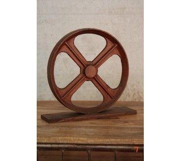 Industrieel decoratief wiel