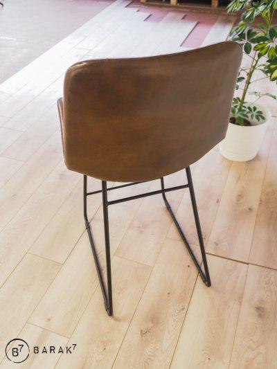 Chaise de bar cuir Jules Verne