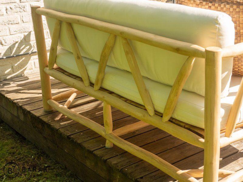 Canapé 2 places en branches de teck - bois flotté