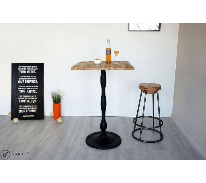 Vierkante hoge bistrotafel 70 cm