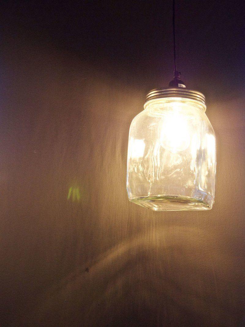 Industriële hanglamp vierkante bokaal