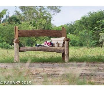 "Bank ""Paradise"" Urban Jungle gerecycleerde teak"
